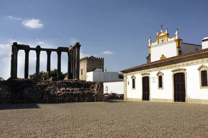 Roman temple, Evora Portugal