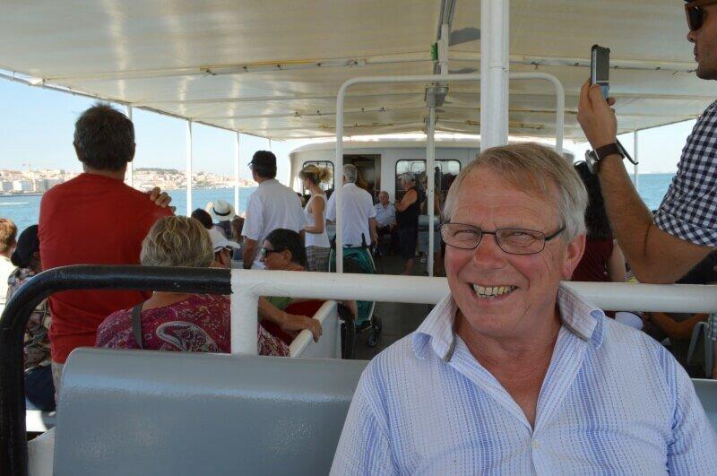 Dad on a Lisbon boat trip
