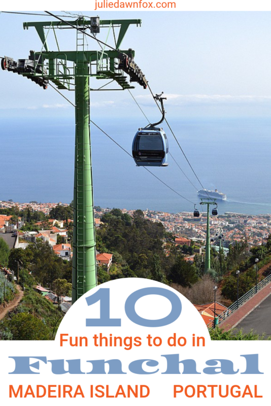 Cable car. There are loads of things to do in Funchal, Madeira island's capital. Take in the harbour either on foot or on a replica of Christopher Columbus' 15th Century ship, marvel at the jaw-dropping views from Monte cable car, check out the fabulous art, revel in the feast for the senses at the 'Workers' Market'... just a few of these10 fun things to do.