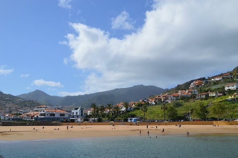 Beach and town, Machico, Madeira