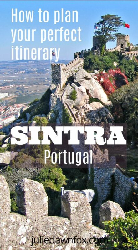 Rugged castle. Sintra is bursting with magnificent architecture and some of its bu