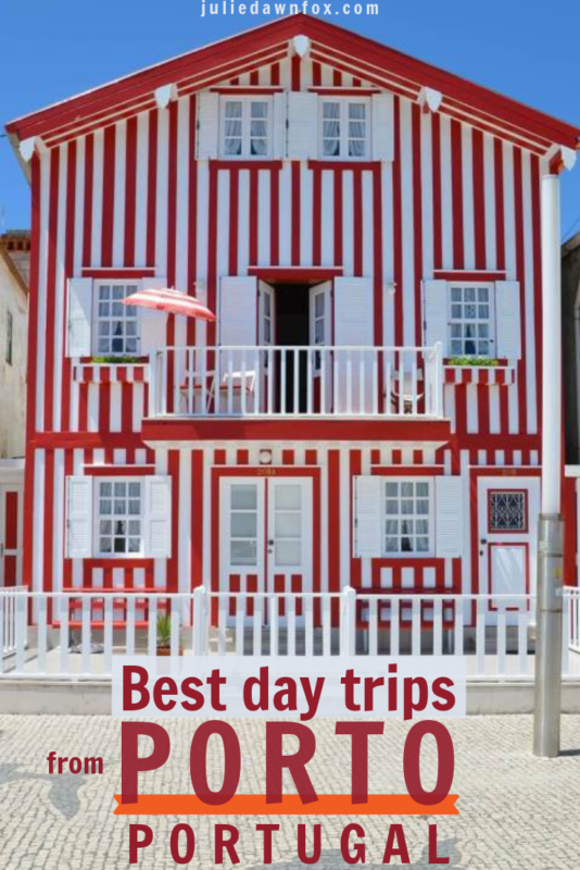 Red and white striped building. The beautiful city of Porto is a great base for your trip to Portugal, Europe. Wine regions, beaches, historical cities and settlements, nature reserves, fishing villages and more are all within easy reach by public transport, organised tours or by car. Take a look at this list to make the most of your stay!