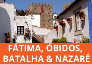 See medieval Obidos, Fátima sanctuary, Nazaré's stunning beach and the World Heritage Gothic monastery of Batalha on this full day small group tour from Lisbon.