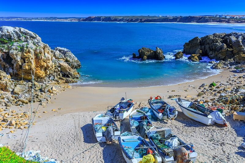 Baleal fishing beach, Central Portugal
