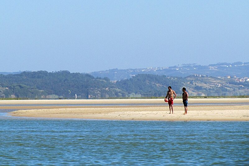 Foz do Arelho lagoon beach, Central Portugal