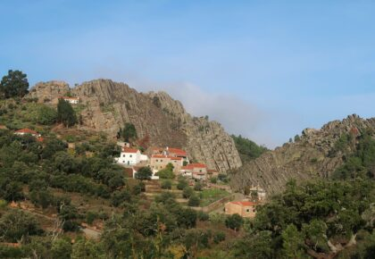 Penha Garcia nestled in the rocks
