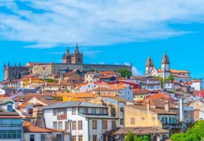 View of cityscape of Viseu, Portugal