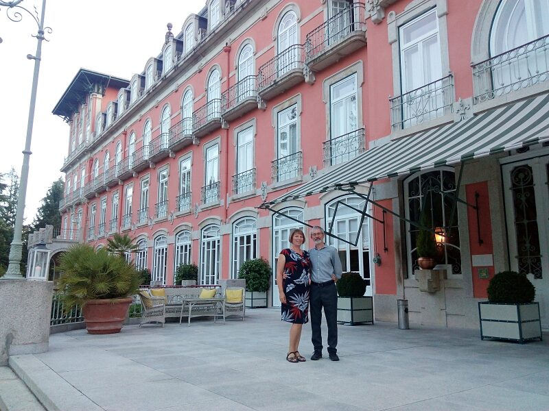 Outside Vidago Palace Hotel