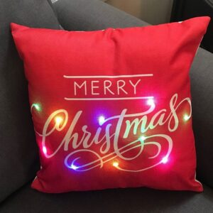 Merry Christmas LED Pillow by Ultimate Innovations