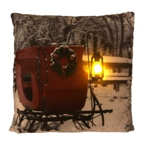 Winter Sleigh LED Pillow by Ultimate Innovations