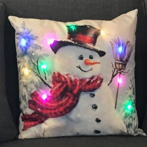 Snowman LED Pillow by Ultimate Innovations