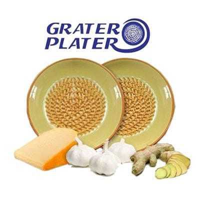 The Grater Plater is a grater and a plate combined. Easy and convenient!