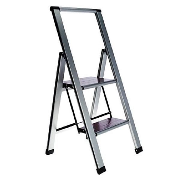 The Light Weight Folding 2-Step Ladder is light and super strong!