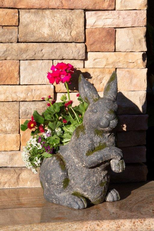 Decorative Moss Bunny Planter by ShopDePalma