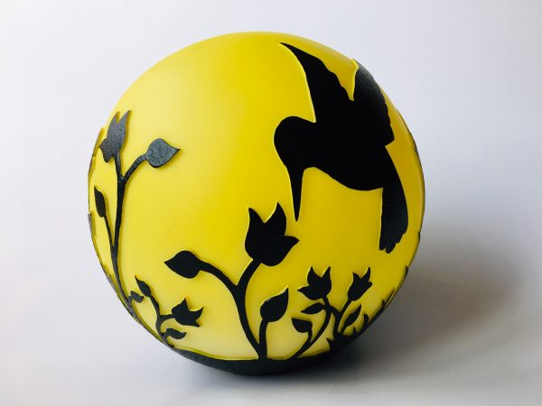 Hummingbird Flickering Gazing Ball