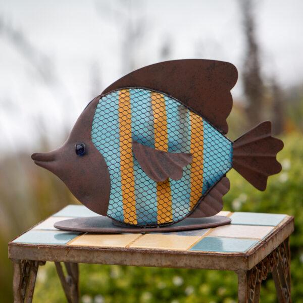 Ultimate Innovations Rustic Solar Blue Angel Fish