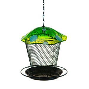 Ultimate Innovations Green Mushroom Bird Feeder