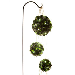 Ultimate Innovations Pre-Lit Boxwood Topiary Balls