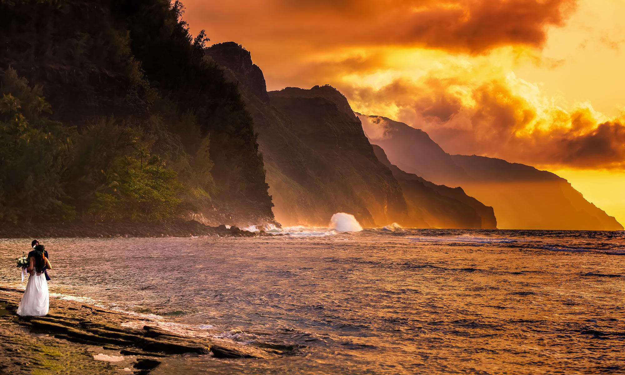 Hawaiian Sunset - Bride & Groom - Wedding Video Fisheye Studio - Irvine, CA