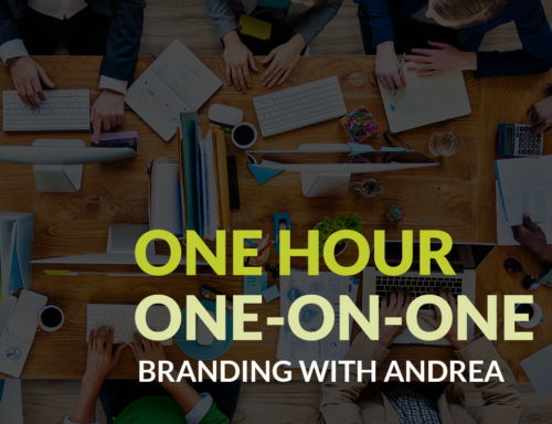 one on one branding session with andrea