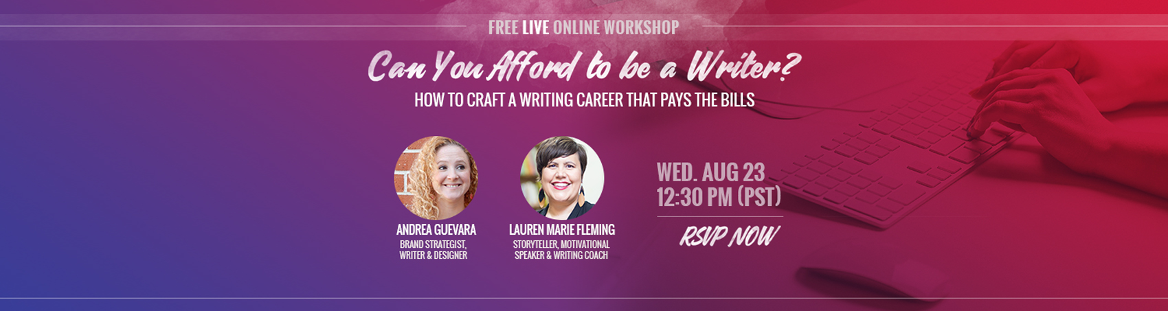 Can You Afford to Be a Writer? workshop | Andrea Guevara