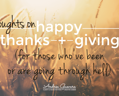 thoughts on being thankful for those who are going through hell