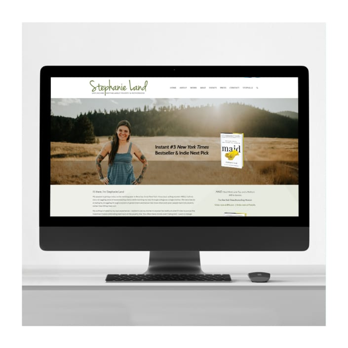Stephanie Land author website design