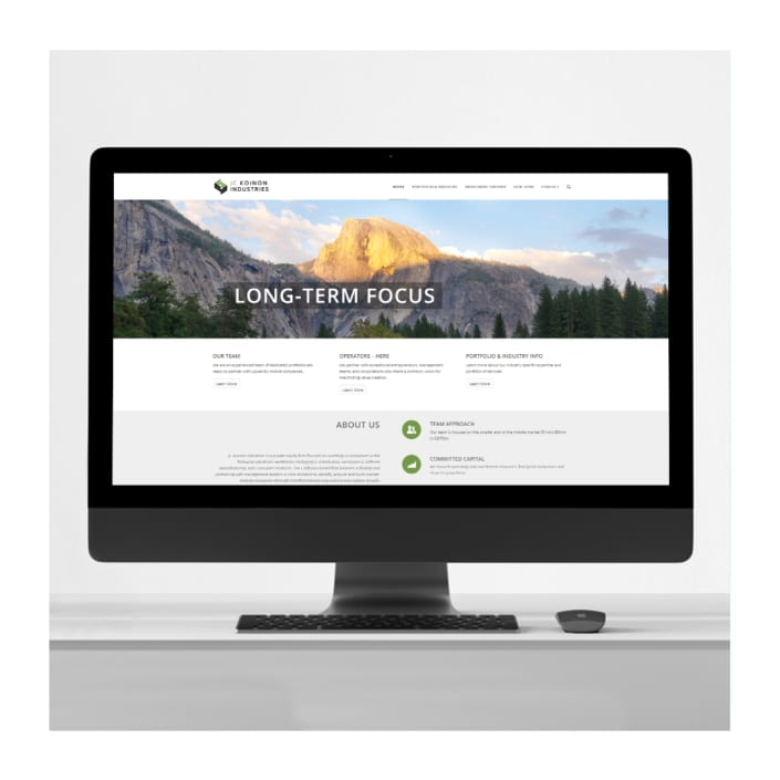 Equity firm website design