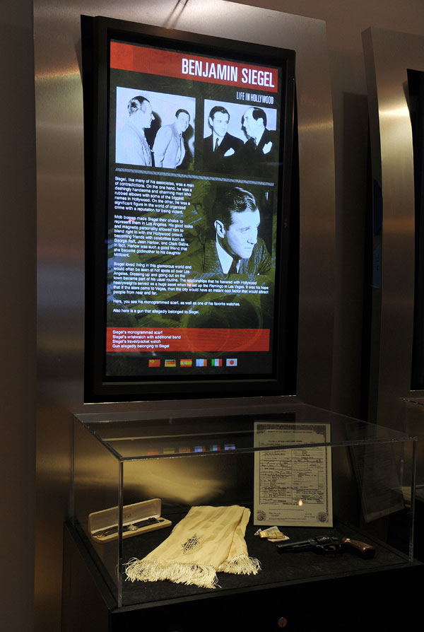 Bugsy Display - Museum of Organized Crime and Law Enforcement