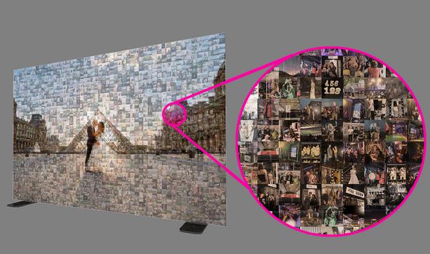 photo mosaic wall hire