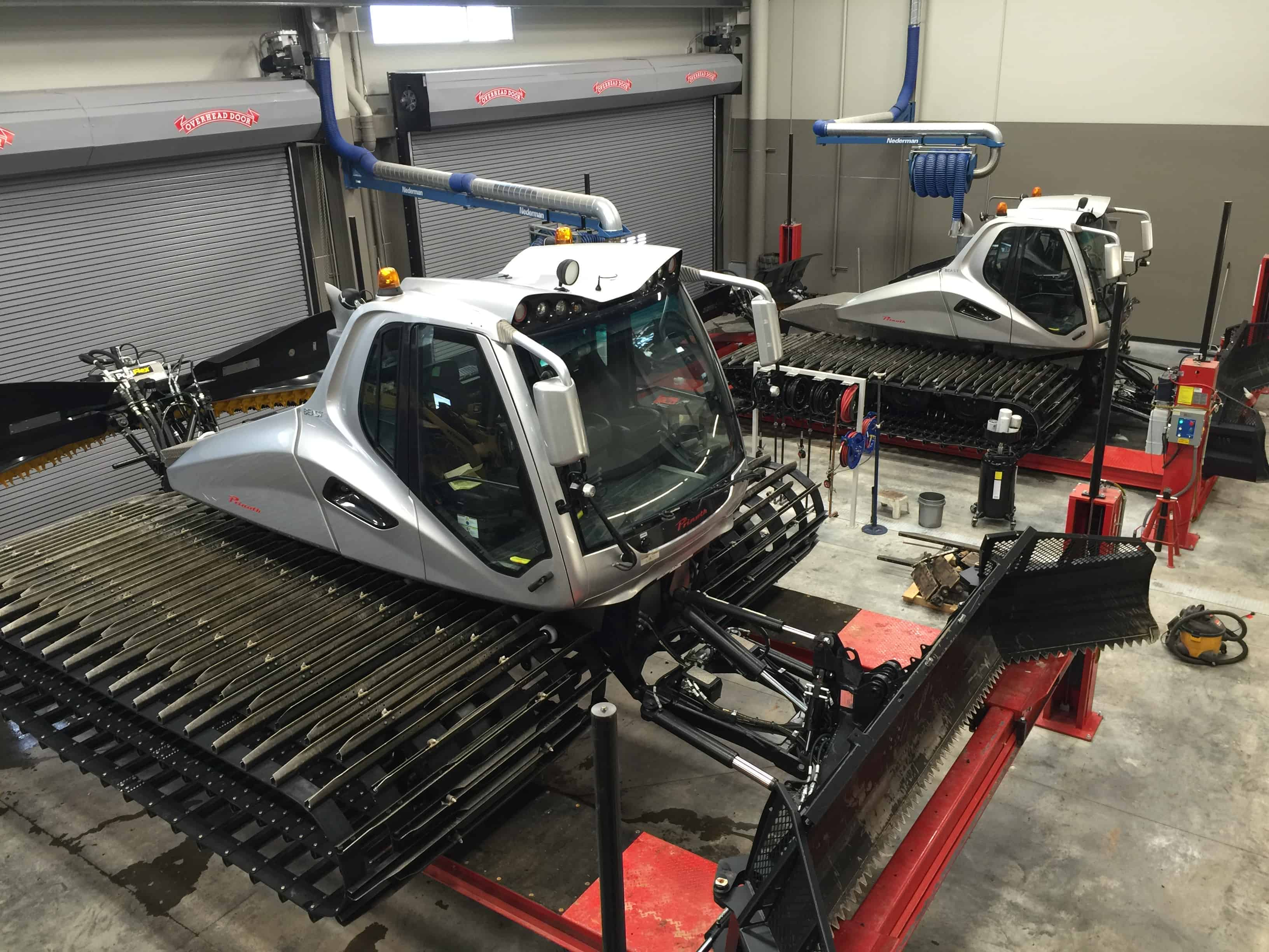 Two PRINOTH BEASTS, ready for maintenance.