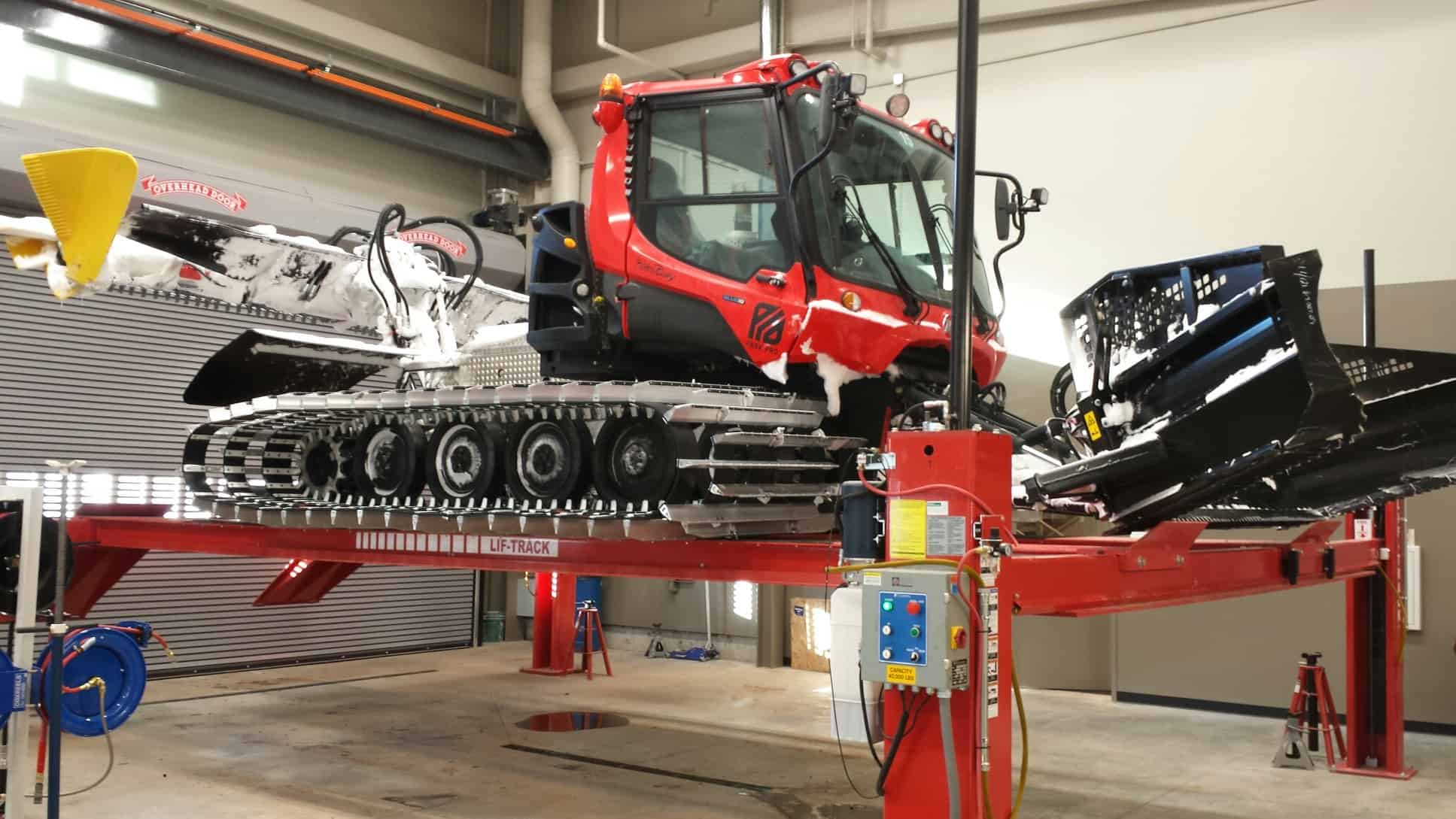 Imagine getting a look under this Pisten Bully, and how much easier it would be to work on it.