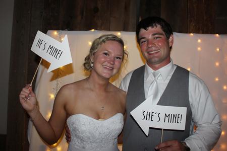 Wright Wedding - The Bride & Groom
