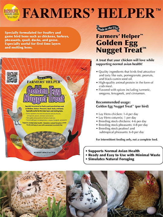 Farmers' Helper™ Golden Egg Nugget Treat™