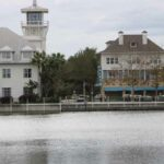 picture across Lake Rianhard toward Bohemian Hotel, Celebration, FL
