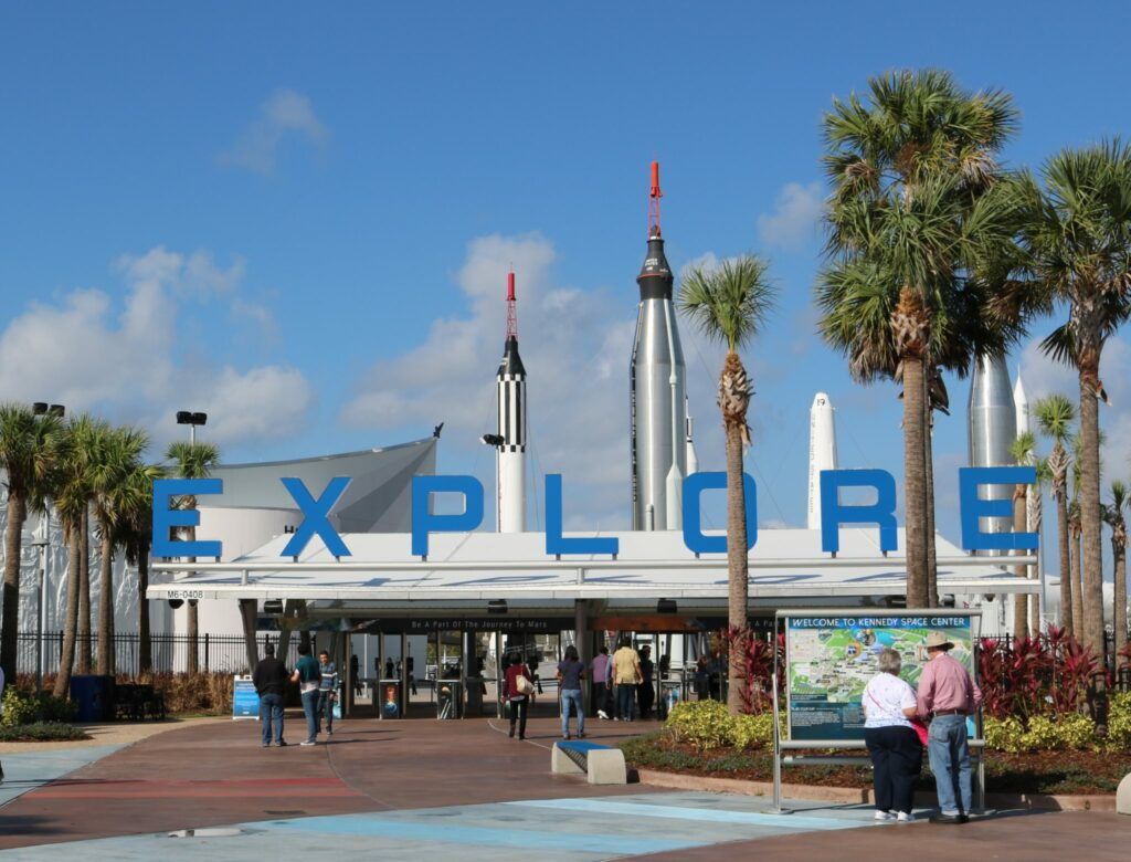 Entrance at Kennedy Space center