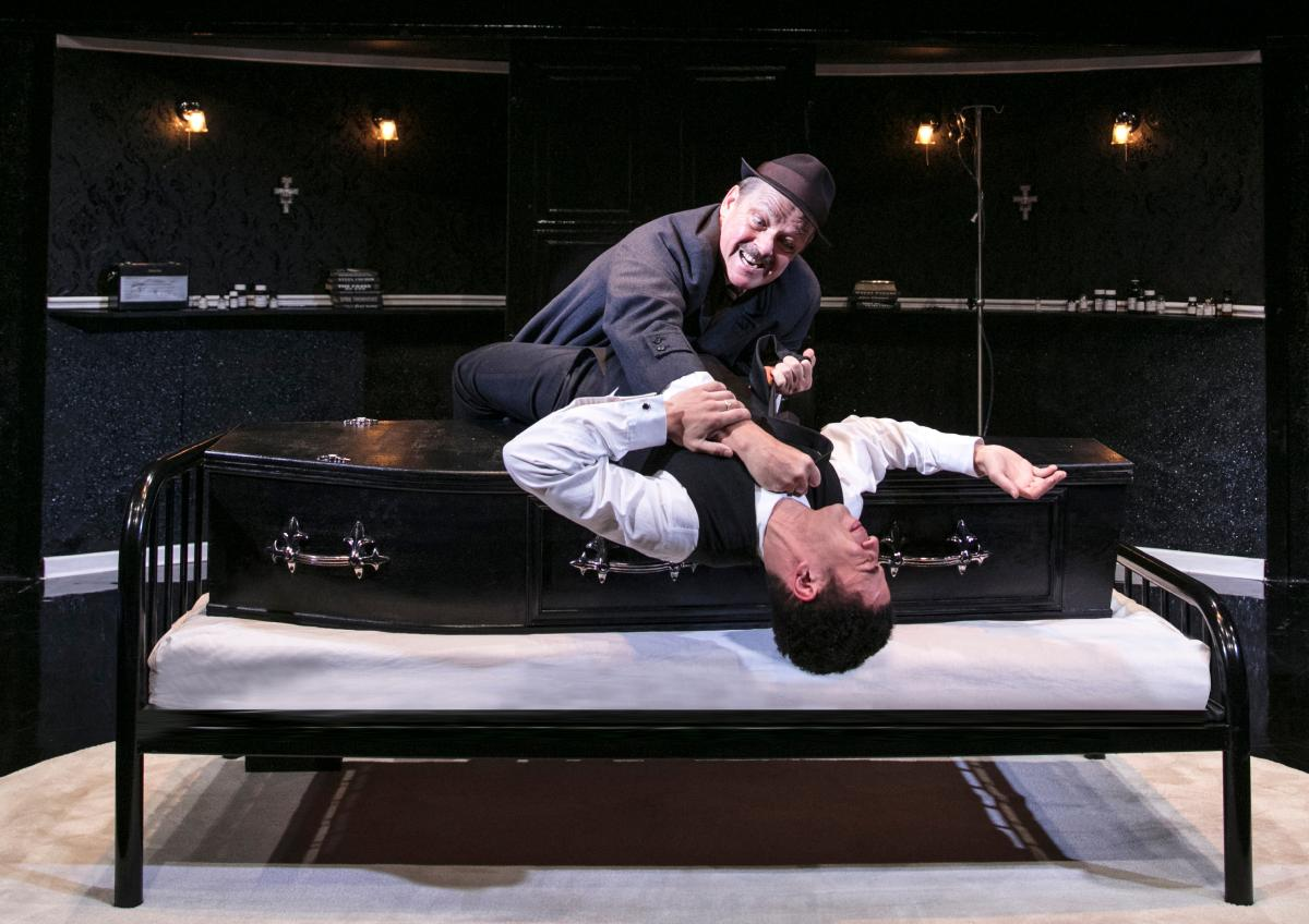LOOT 1 Christopher Fulford (Truscott) and Sam Frenchum (Hal) Photo by Darren Bell