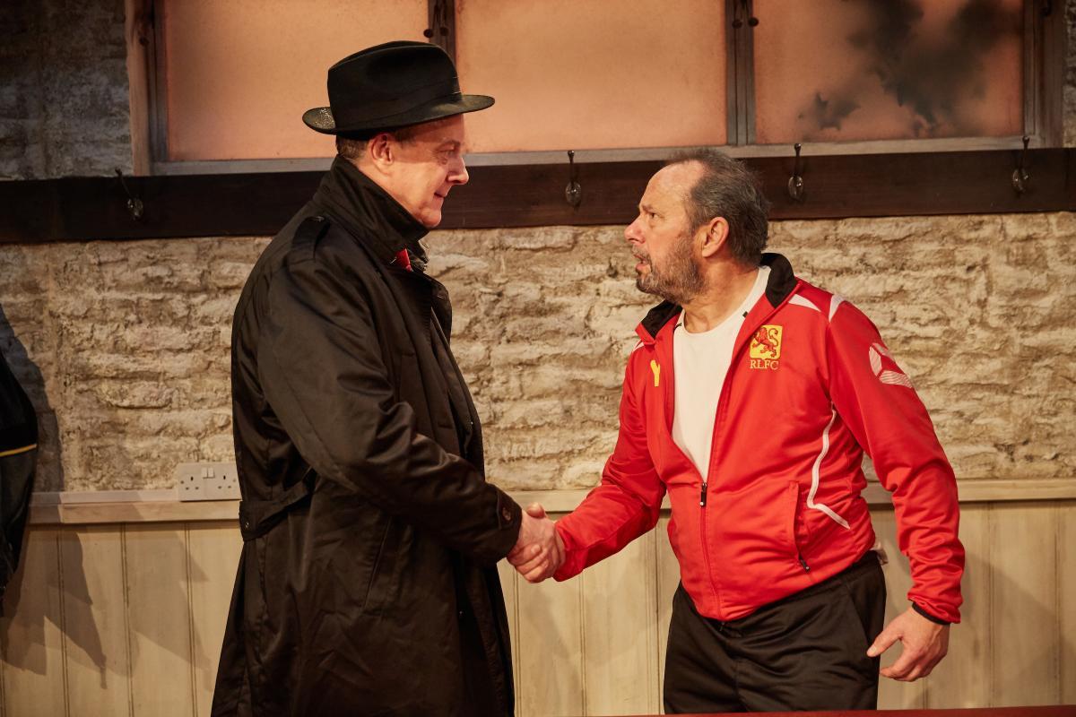 The Red Lion, Trafalgar Studios -  Stephen Tompkinson and John Bowler (courtesy of Mark Douet)