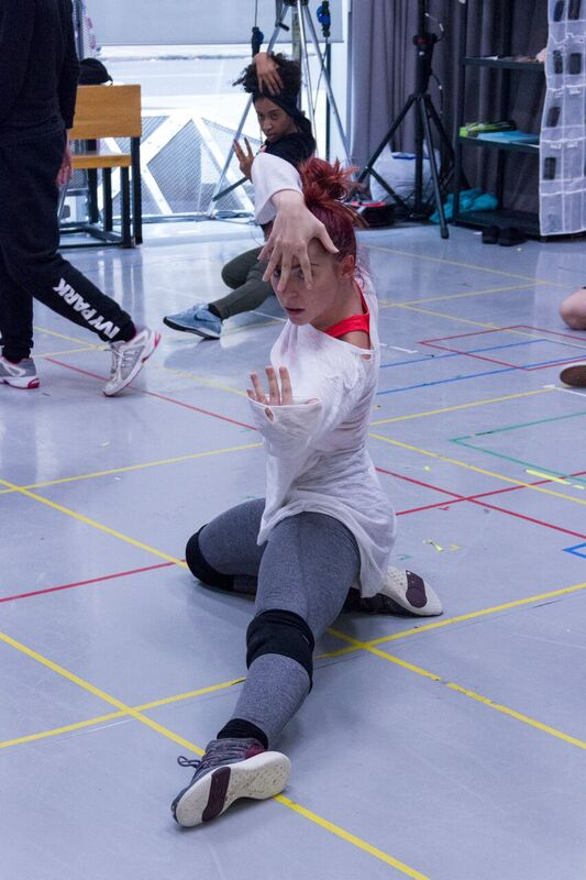 The company in rehearsal for Everybody's Talking About Jamie