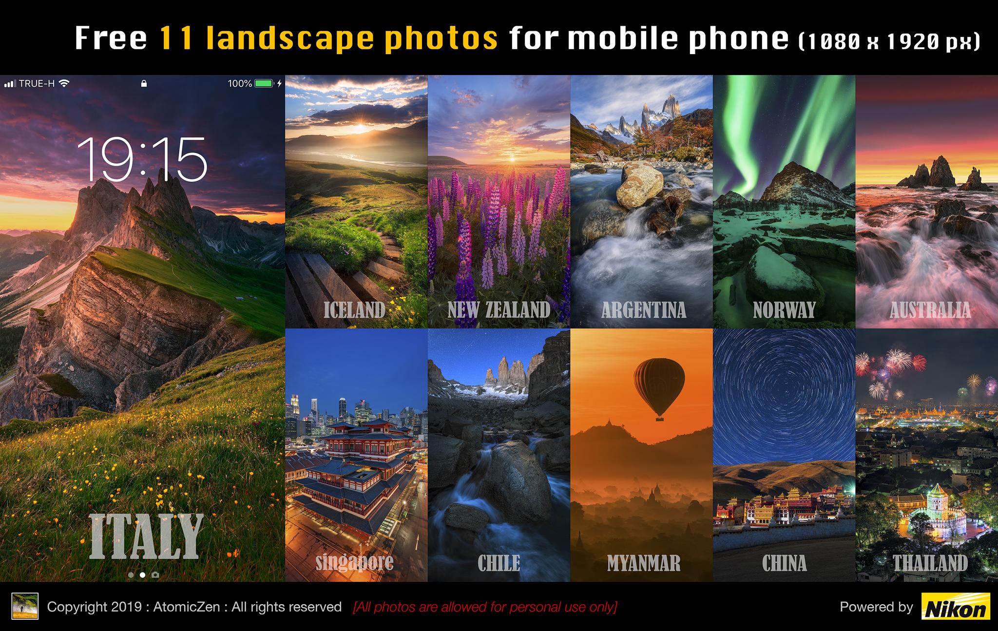 ฟรี!! แต่งหน้าจอมือถือให้สุดสวยด้วยภาพ Landscape สุดอลังการ 11 ใบ