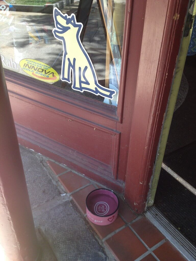 Water bowls along Broadway in Saratoga Springs