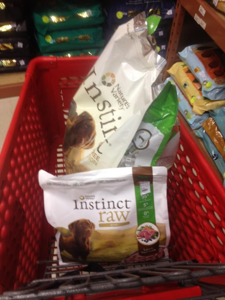 MyDogLikes tries out the Nature's Variety Instinct Diet. Here we are loaded up with a full cart from PetSaver Superstore!
