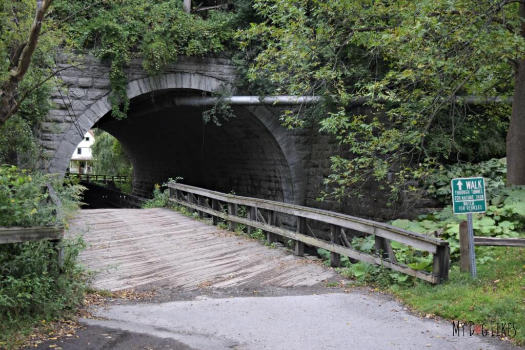 The beautiful stone arch bridge near the South Entrance of Corbett's Glen