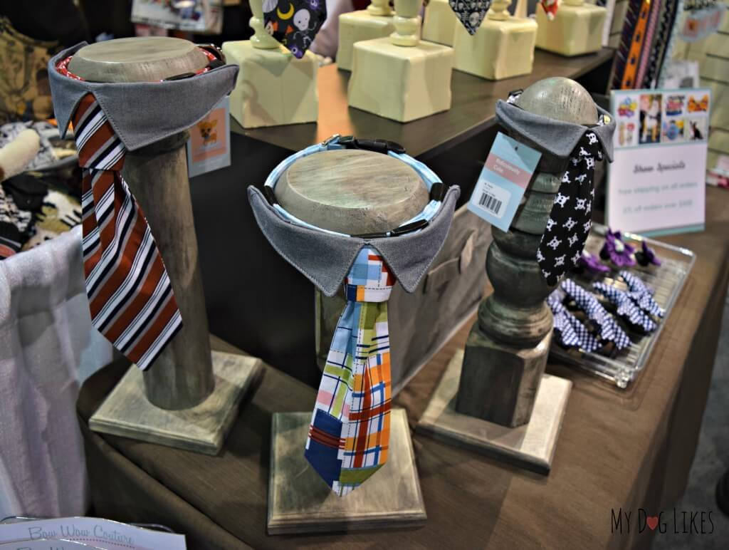 Bow Wow Couture offers an adorable line of dog collar ties and bow ties!