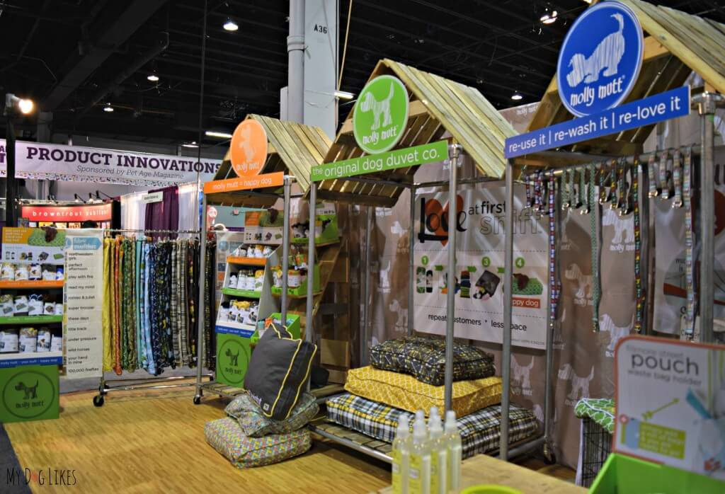 The Molly Mutt display at Backer's Total Pet Expo in Chicago