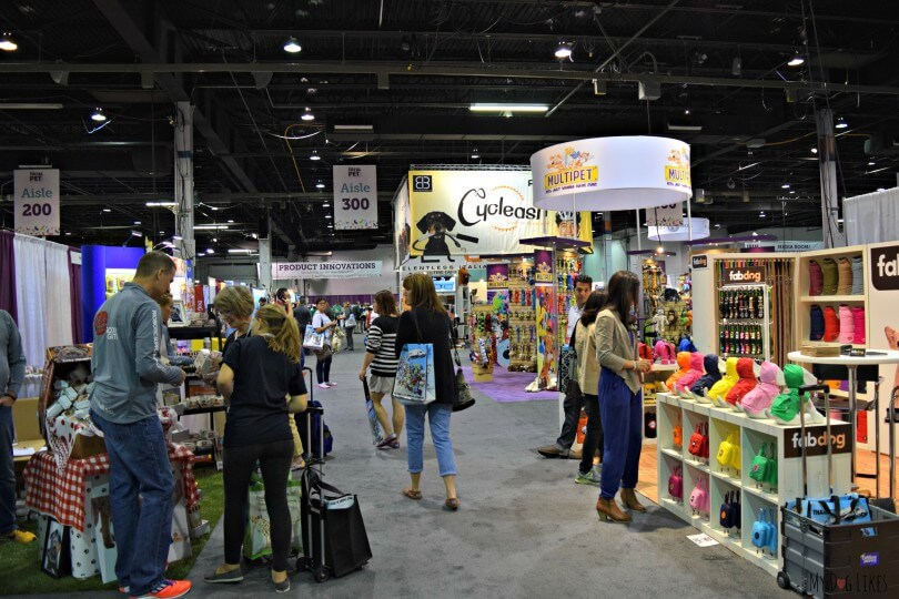 A view on the floor of Backer's Total Pet Expo in Chicago