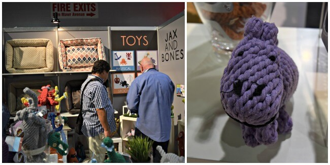 The Jax and Bones booth at Backer's Total Pet Expo in Chicago