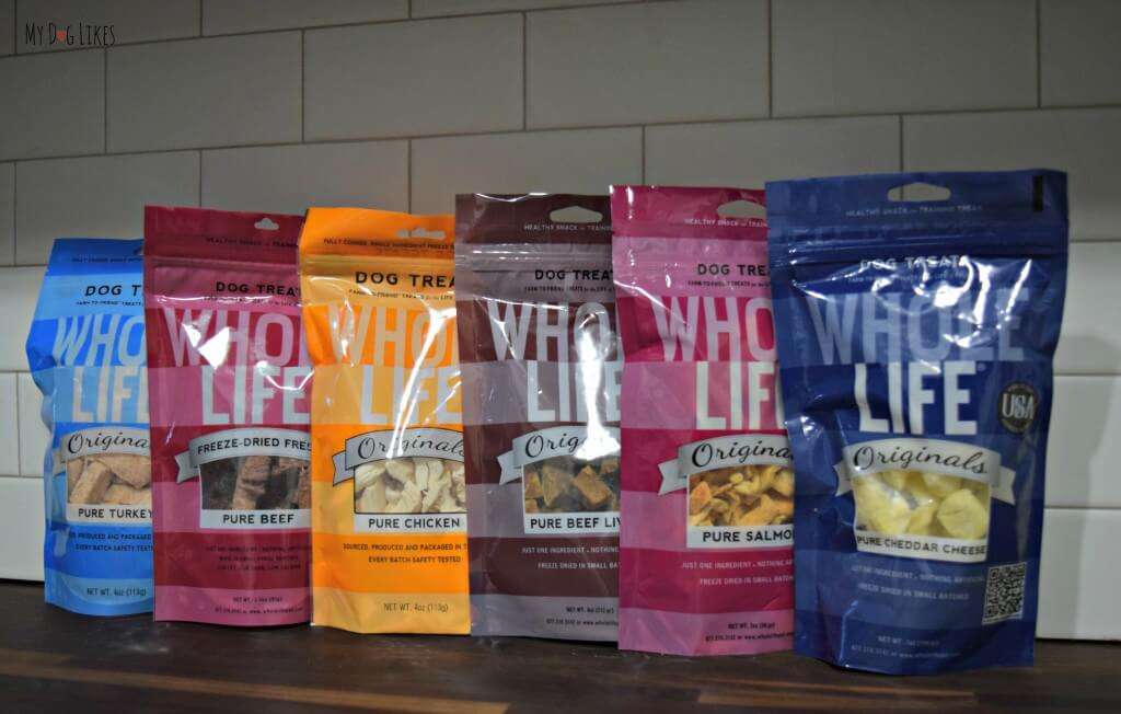 After just one sampling of Whole Life's freeze dried dog treats, they are already one of our favorite healthy dog treats