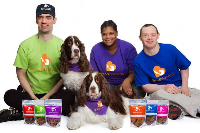 Good Reasons Dog Treats is one of our favorite companies. They make tasty and healthy dog treats while at the same time employing people with disabilities