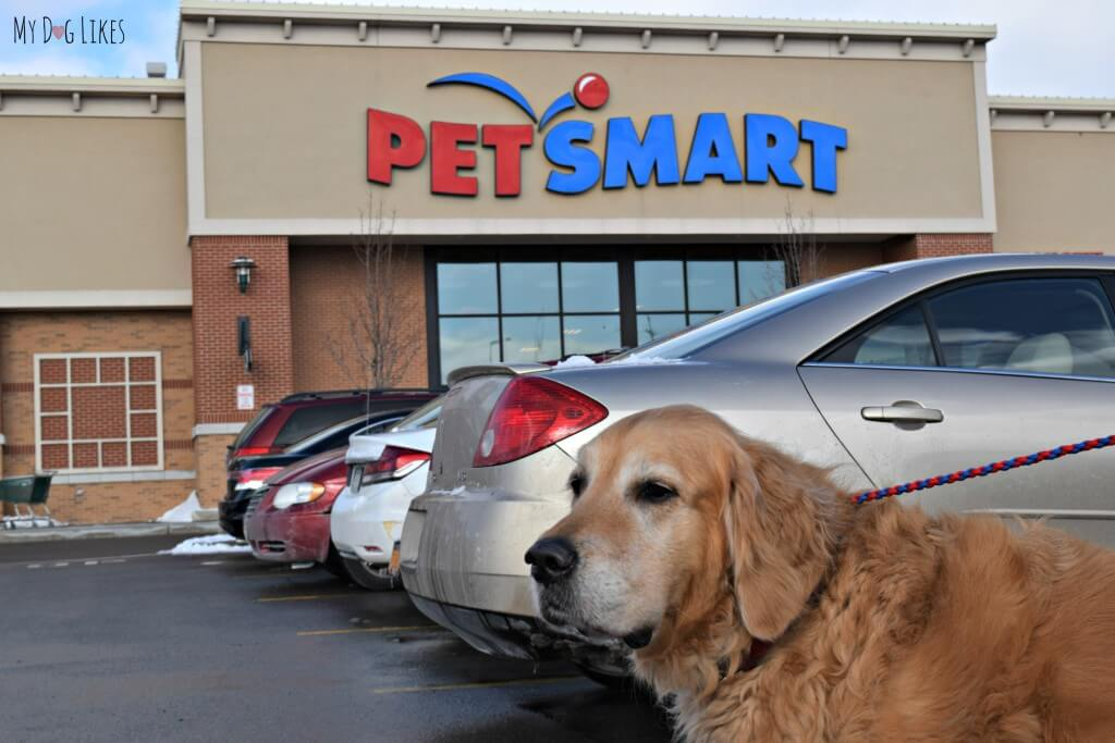 Heading into Petsmart to check out the great deals and selection for Dog Dental Health Month